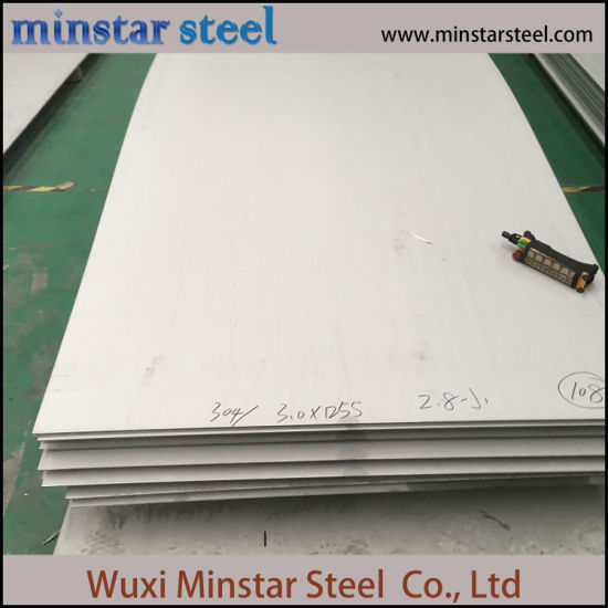 201 Grade 10mm Tebal Hot Rolled Stainless Steel Sheet untuk Bangunan