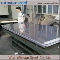 SUS 201 8K Ba 2b Surface Stainless Steel Sheet untuk mesin