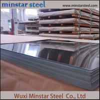 Cold Rolled BA Finish 316 Inox Plate Plat Stainless Steel 316L dengan Kertas Interleaved